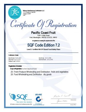 thumbnail of SQF L2 Certificate Pacific Coast Fruit Due Jul 2018